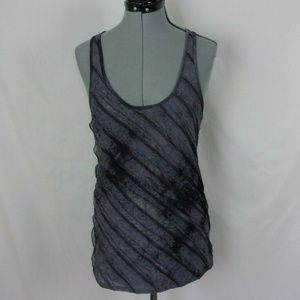 One Clothing Tank Top Diagonal Tiers Gray Large
